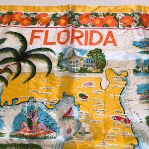 Florida State Souvenir Scarf polnts of interest